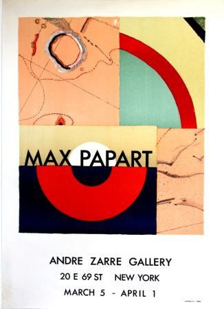 Lithographie Papart - Andre Zarrze  Gallery New York