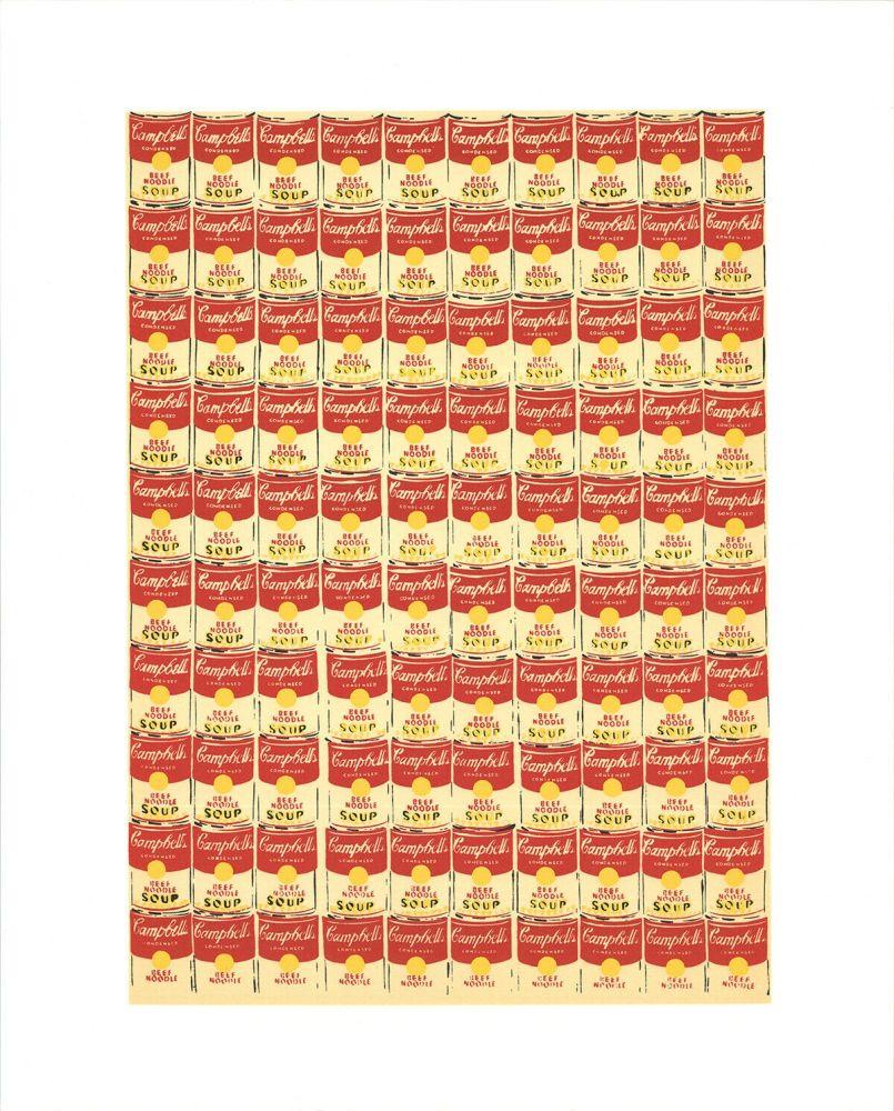 Sérigraphie Warhol - Andy Warhol '100 Cans' 1991 Original Pop Art Poster