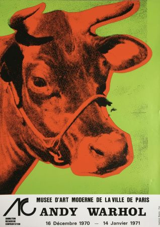 Aucune Technique Warhol - Andy Warhol 'Cow Wallpaper (Green)' 1970 Original Pop Art Poster with COA
