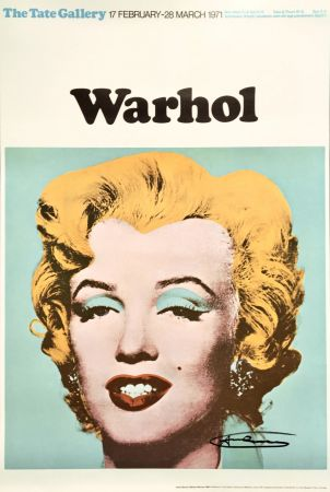 Lithographie Warhol - Andy Warhol 'Marilyn (Tate Gallery)' 1971 Hand Signed Original Pop Art Poster