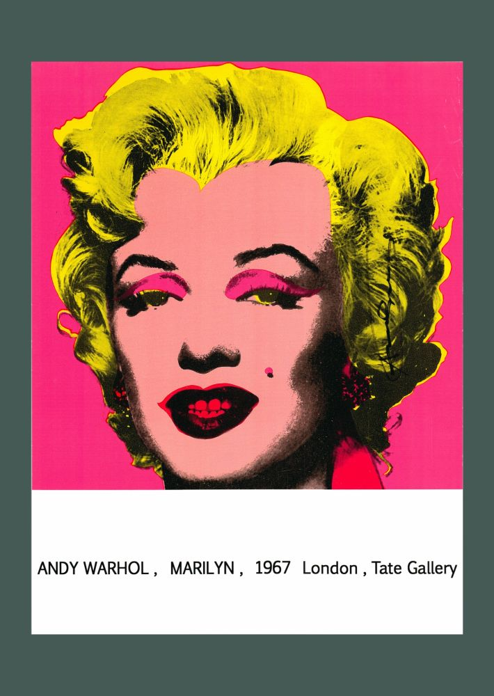 Lithographie Warhol - Andy Warhol 'Marilyn (Tate Gallery)' 1987 Hand Signed Original Pop Art Poster