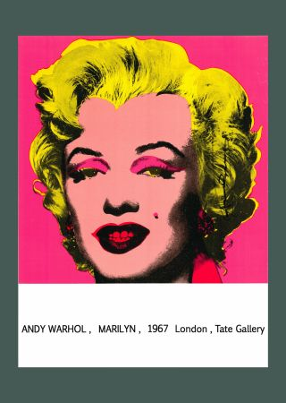 Lithographie Warhol - Andy Warhol 'Marilyn (Tate Gallery)' 1987 Hand Signed Original Pop Art Poster with COA