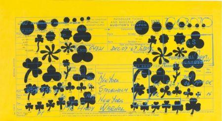 Sérigraphie Warhol - Andy Warhol Sas Passenger Ticket (Feldman & Schellmann Ii.20)