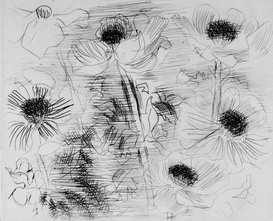 Eau-Forte Dufy - Anemones