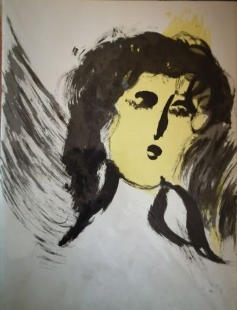 Lithographie Chagall - Ange