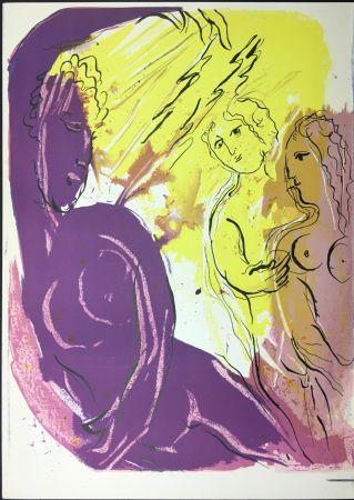 Lithographie Chagall - ANGE DU PARADIS. Lithographie originale pour LA BIBLE. 1956.