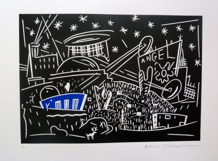 Lithographie Kuroda - Angel City IV