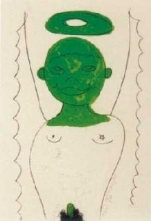 Lithographie Dokoupil - Angelito