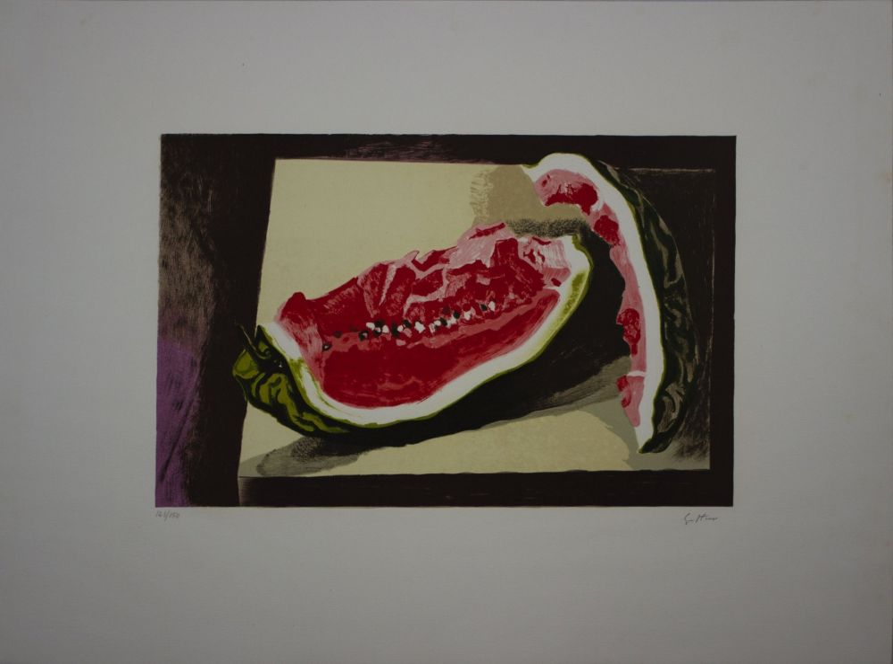 Lithographie Guttuso - Anguria