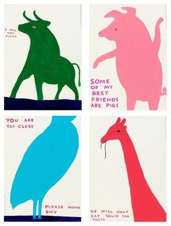 Lithographie Shrigley - Animal series (set of 4)