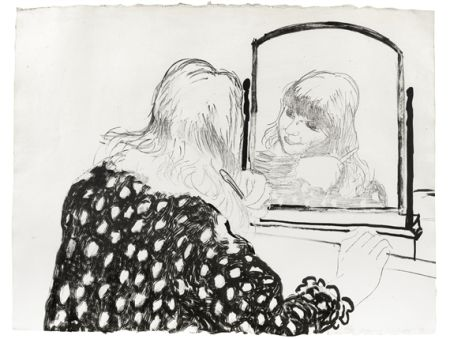 Lithographie Hockney - Ann Combing Her Hair
