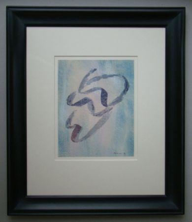 Lithographie Fautrier - Annabelle Nue