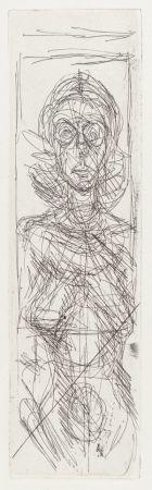Gravure Giacometti - Annette de face