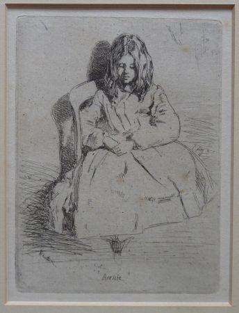 Gravure Whistler - Annie seated