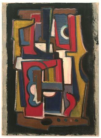 Aucune Technique Anonyme - Anonyme, dans le goût de Fernand LEGER.  Composition cubiste (1955)