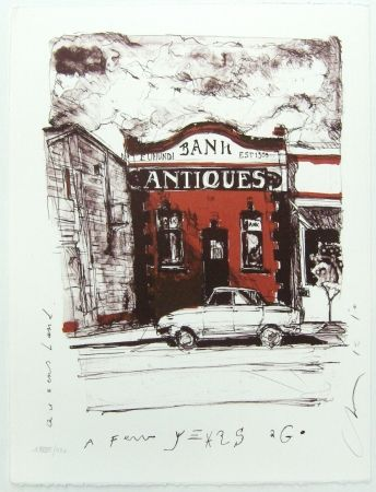Lithographie Couture - Antique