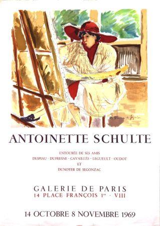 Lithographie De Segonzac - Antoinette  Schulte  Galerie de Paris