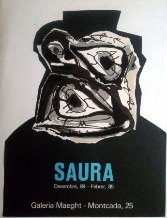 Affiche Saura - ANTONIO SAURA - MAEGHT - DESEMBRE 84 / FEBRER 85