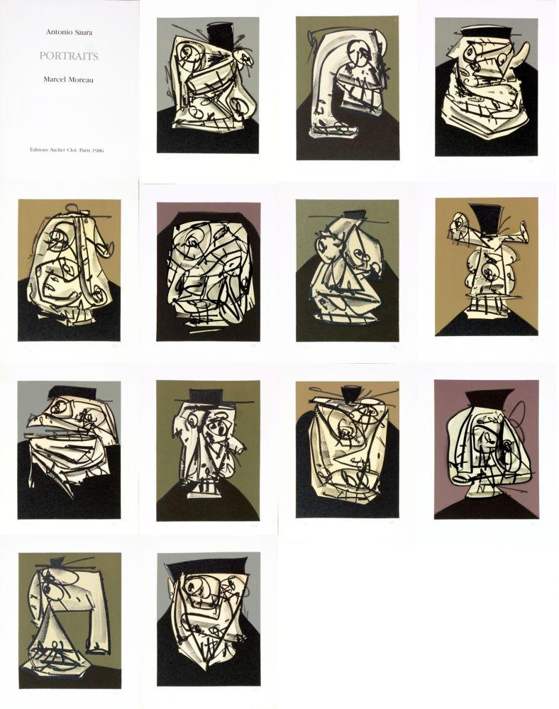 Aucune Technique Saura - Antonio Saura/Portrait/Marcel Moreau/Edtions Atelier Clot