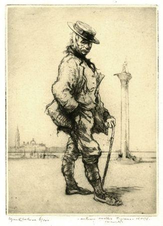 Eau-Forte Chahine - Antonio Vecchio Tiziano, Venise