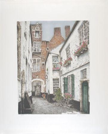 Eau-Forte Hebbelinck - Antwerpen : Vlaeyckensgang - Den Grooten Baers