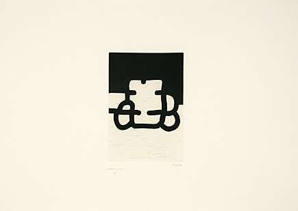 Aquatinte Chillida - Antzo VIII