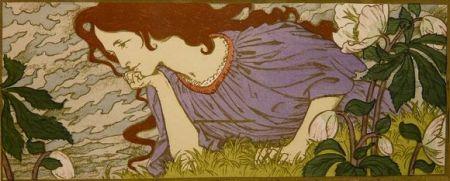 Lithographie Grasset - Anxiété
