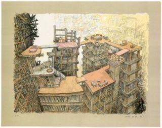 Lithographie Oiwa - Apartment