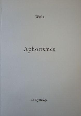 Livre Illustré Wols - Aphorismes