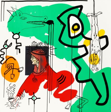 Sérigraphie Haring - Apocalypse 8 from the Apocalypse series 1988
