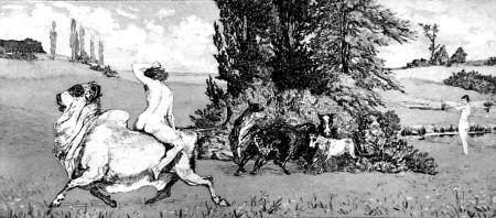 Eau-Forte Et Aquatinte Klinger - Apollo e Dafne III