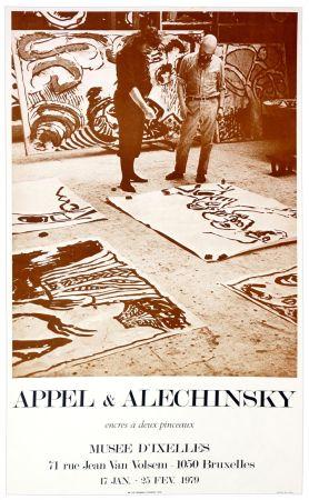 Affiche Alechinsky - Appel & Alechinsky, encres à deux pinceaux, 1979