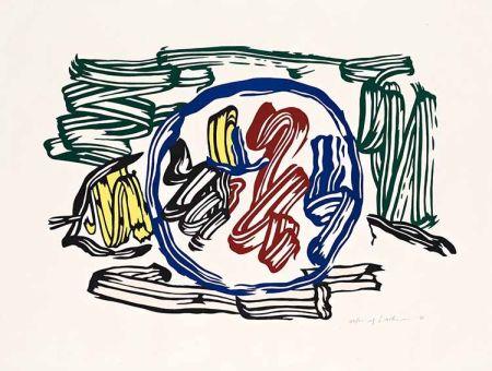 Gravure Sur Bois Lichtenstein - Apple and Lemon