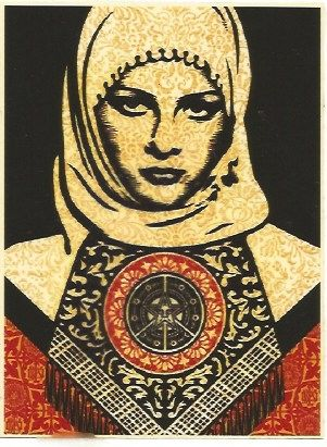 Sérigraphie Fairey - Arab woman