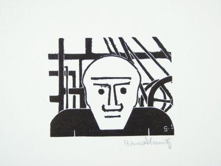 Linogravure Schmitz - Arbeiter (Worker)
