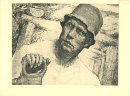 Gravure Kätelhön - Arbeiter / Worker