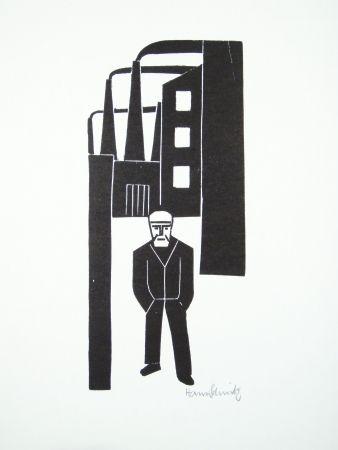 Linogravure Schmitz - Arbeiterfreizeit (Worker's Leisure Time)
