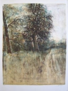 Lithographie Gantner - Arbre