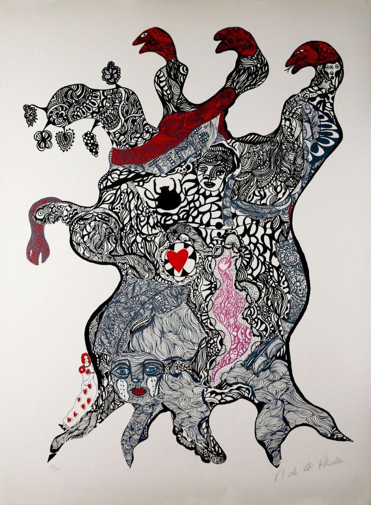 Sérigraphie De Saint Phalle - Arbre aux Serpents