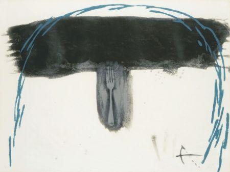 Eau-Forte Tàpies - Arc blau (Blauer Bogen)