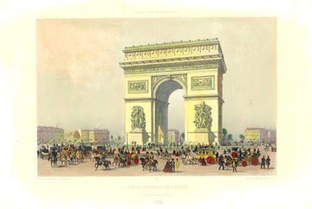 Lithographie Benoist - Arc de Triomphe de l'Etoile