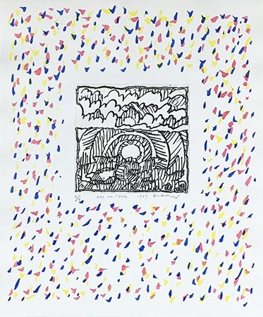 Gravure Alechinsky - Arc en terre