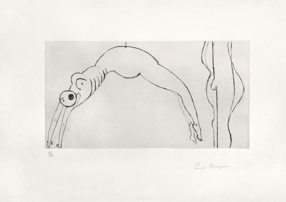 Gravure Bourgeois - Arched figure