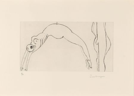Eau-Forte Bourgeois - Arched Figure
