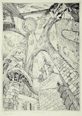 Gravure Vieillard - Architecture II (Tour de Babel)