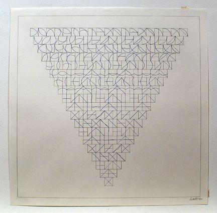 Gravure Lewitt - Arcs and Lines