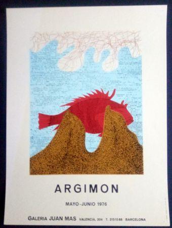 Affiche Argimon - ARGIMON - MAYO JUNIO 1976 - GALERIA JUAN MAS
