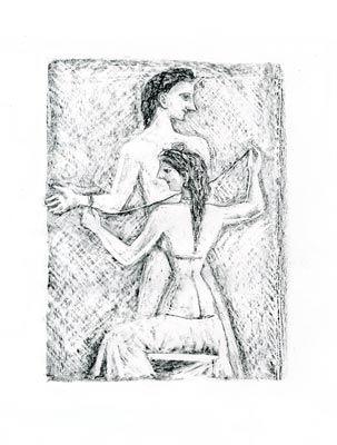 Lithographie Campigli - Arianna I (Theseus)