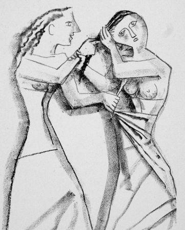 Lithographie Campigli - Arianna II
