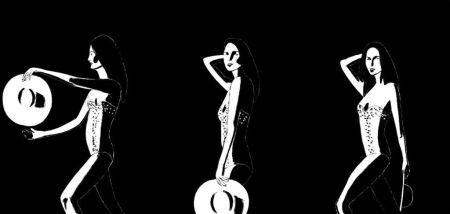 Sérigraphie Katz - Ariel Black & White